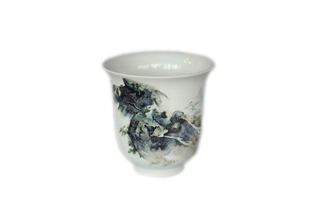蔡永志-山水水杯(流水盤迴山百轉)