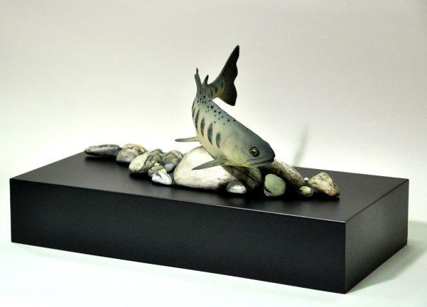 李國欽鋒頭獨綻櫻花鉤吻鮭(櫻花鉤吻鮭32x17x17 cm)